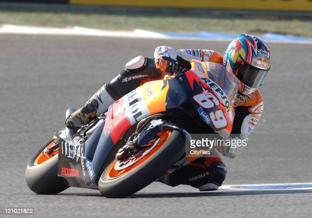Nicky Hayden during training for the 2006 Estoril Moto GP in Estoril Portugal on October 14 2006