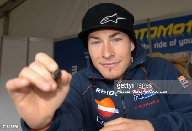 Nicky Hayden of the USA and Repsol Honda Team during an autograph session at the 2006 GMC Australian Motorcycle Grand Prix at the Phillip Island...