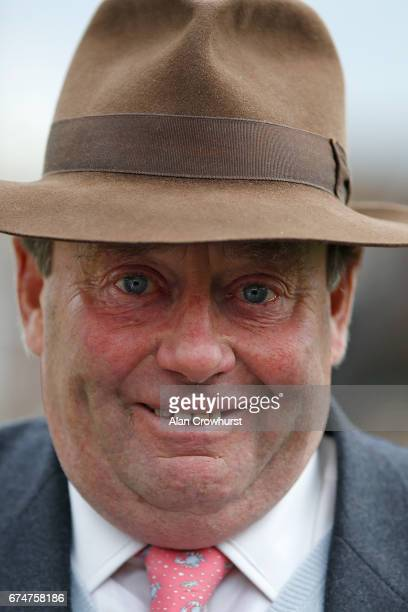 Nicky Henderson poses at Sandown Park on April 29 2017 in Esher England