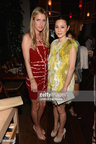 Nicky Hilton and Actress China Chow attend the Aby Rosen Samantha Boardman dinner at The Dutch on December 6 2012 in Miami Florida
