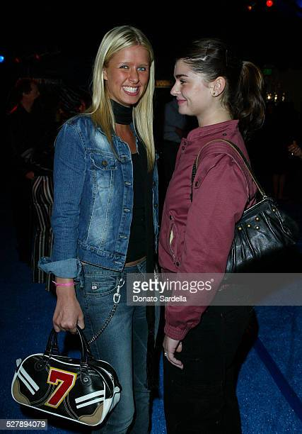 Nicky Hilton and Aimee Osbourne during Glamour's Annual Don't Party - Inside at Shakey's Pizza in Los Angeles, California, United States.