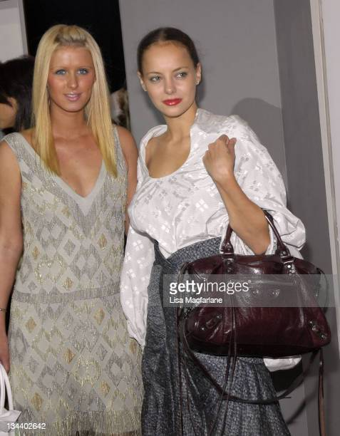 Nicky Hilton and Bijou Phillips during Olympus Fashion Week Spring 2006 - Seen Around Tent - Day 7 at Bryant Park in New York City, New York, United...