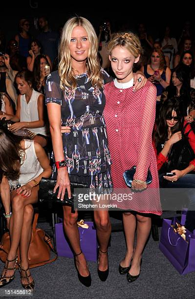 Nicky Hilton and Cory Kennedy attend the Noon By Noor Spring 2013 fashion show during MercedesBenz Fashion at The Studio at Lincoln Center on...