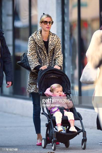 Nicky Hilton and daughter, Lily Grace seen out and about in Manh on October 15, 2019 in New York City.