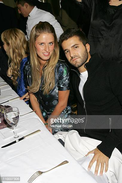 Nicky Hilton and David Katzenberg pose at the Dean and Davis Factor Paul DeArmas and Michael Baruch Mr Chow Dinner Ð Spring 2008 Fashion Week on...