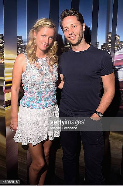 Nicky Hilton and Derek Blasberg attend MercedesBenz Evolution Tour with Alabama Shakes and Questlove at Terminal 5 on July 24 2014 in New York City