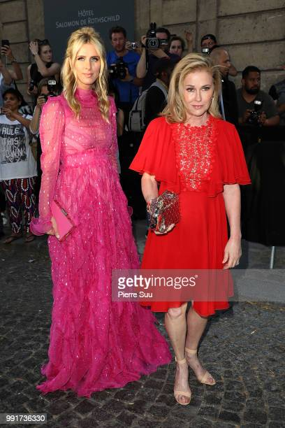 Nicky Hilton and her mother Katy attend the Valentino Haute Couture Fall Winter 2018/2019 show as part of Paris Fashion Week on July 4 2018 in Paris...