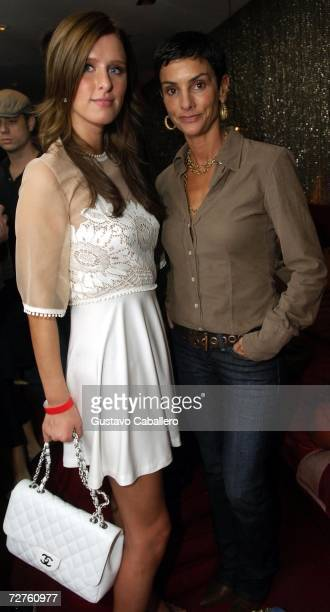 Nicky Hilton and Ingrid Casares pose in the early morning hours at the Stellan Holm Gallery Sante D'Orazio's Katlick School Launch hosted by Imperia...