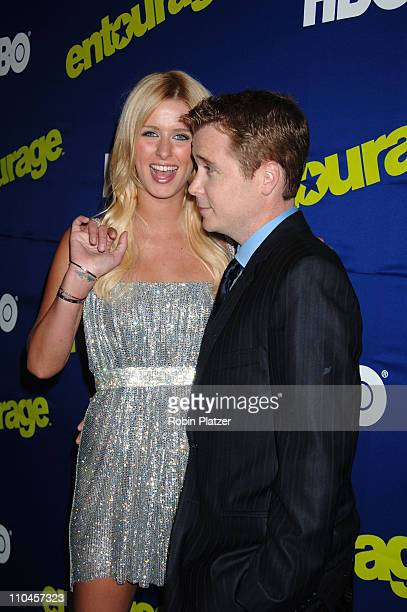 Nicky Hilton and Kevin Connolly during Entourage Season Three New York Premiere Arrivals at Skirball Center for the Performing Arts at NYU in New...