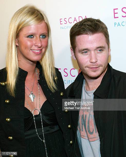 Nicky Hilton and Kevin Connolly during Launch of Escada's Newest Scent Pacific Paradise at Lobby in West Hollywood California United States