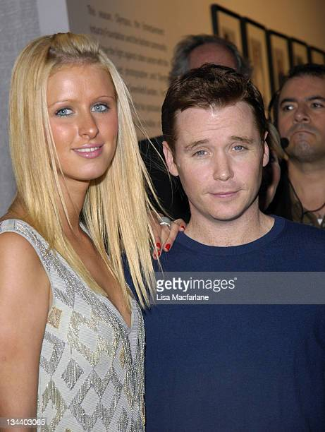 Nicky Hilton and Kevin Connolly during Olympus Fashion Week Spring 2006 - Seen Around Tent - Day 7 at Bryant Park in New York City, New York, United...