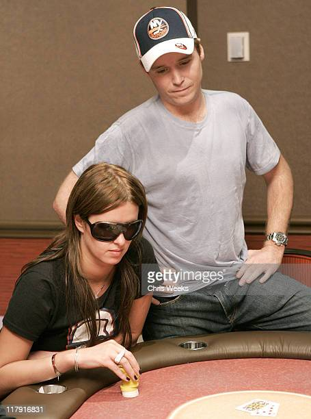 Nicky Hilton and Kevin Connolly during Social House Presents Nicky Hilton's Poker Tourney at TI Poker Room at Treasure Island in Las Vegas,...