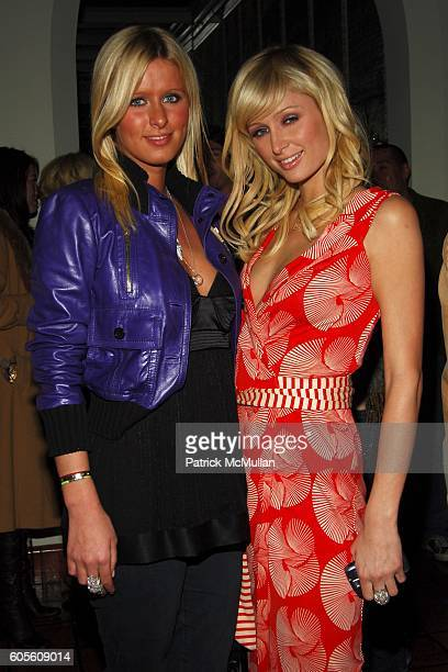 Nicky Hilton and Paris Hilton attend ETRO and Perrier Jouet Celebrate The Launch of Patrick McMullan's Book KISS KISS at Chateau Marmont on February...