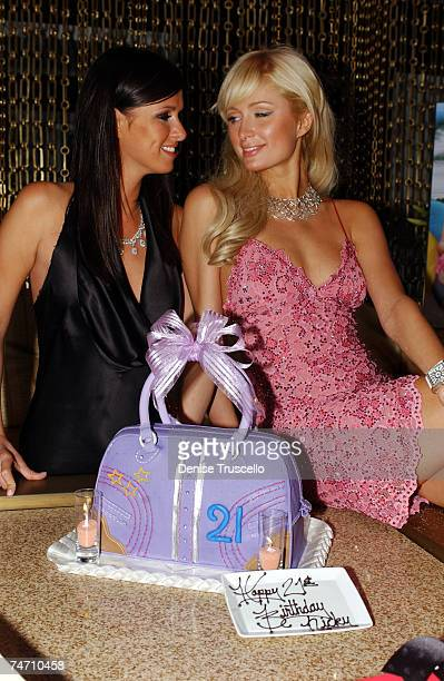 Nicky Hilton and Paris Hilton during Nicky Hilton's 21st Birthday at The Hard Rock Hotel and Casino in Las Vegas at the The Hard Rock Hotel and...