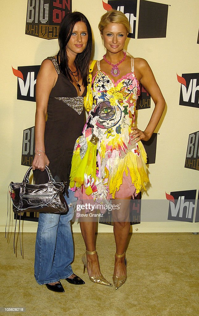 Nicky Hilton and Paris Hilton during VH1 Big in '04 - Arrivals at Shrine Auditorium in Los Angeles, California, United States.