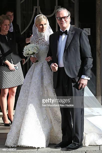 Nicky Hilton and Richard Hilton leave Claridges ahead of her wedding on July 10 2015 in London England