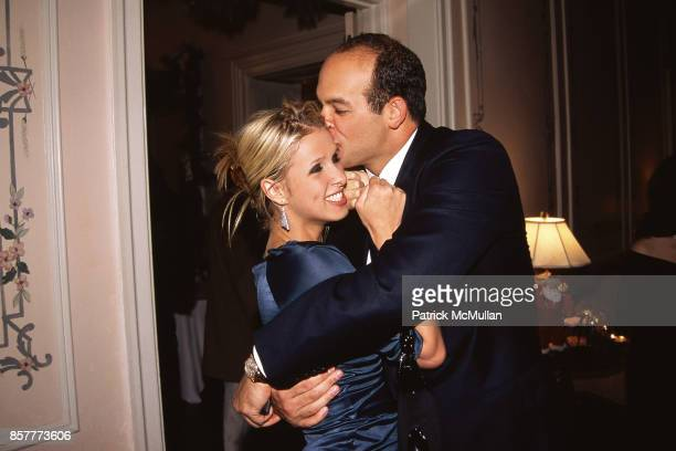 Nicky Hilton and Todd Meister kiss at Hilton's Party at Hilton Residence at WaldorfAstoria on December 11 2001 in New York City