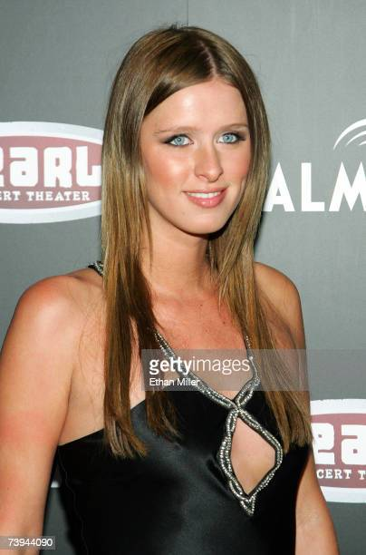 Nicky Hilton arrives at a Gwen Stefani concert serving as the grand opening of The Pearl concert theater at the Palms Casino Resort April 21 2007 in...