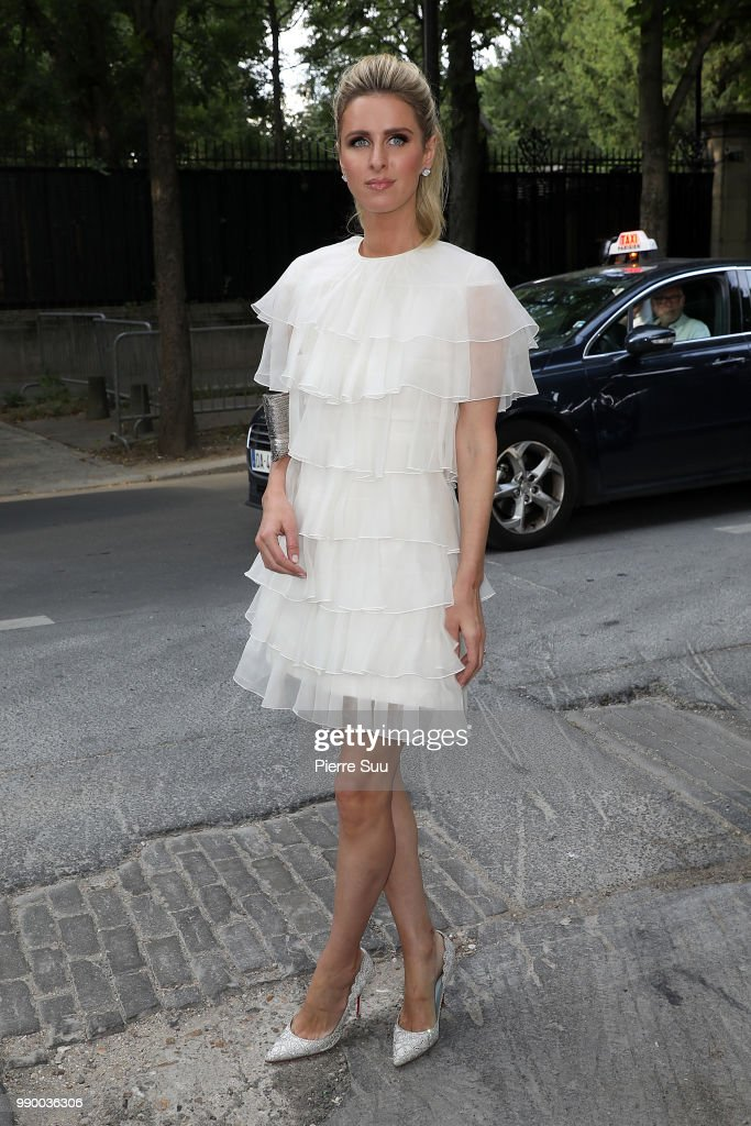 Nicky Hilton arrives at the Giambattista Valli Haute Couture Fall Winter 2018/2019 show as part of Paris Fashion Week on July 2, 2018 in Paris, France.