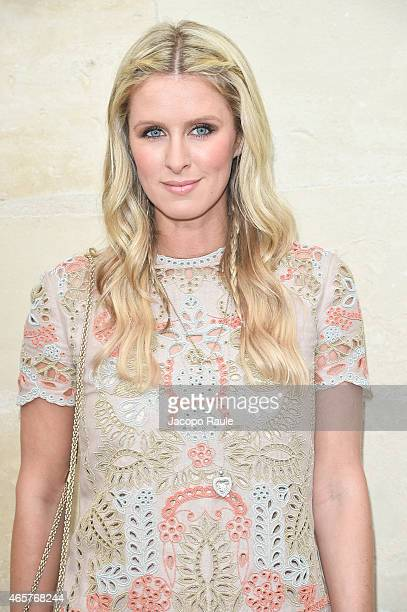 Nicky Hilton arrives at Valentino Fashion Show during Paris Fashion Week Fall Winter 2015/2016 on March 10 2015 in Paris France
