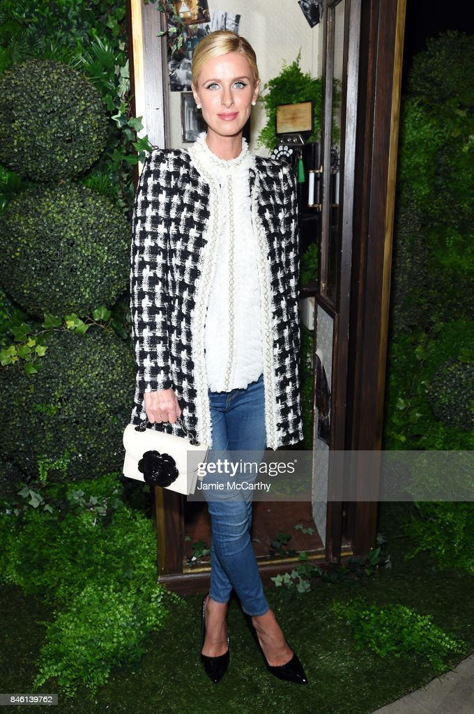 Nicky Hilton attends Alice + Olivia By Stacey Bendet - fashion show during September 2017 - New York Fashion Week: The Shows at Gallery 2, Skylight Clarkson Sq on September 12, 2017 in New York City.