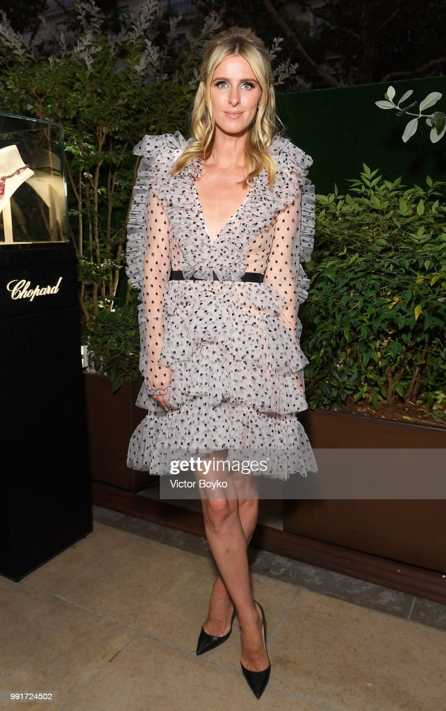 Nicky Hilton attends amfAR Paris Dinner 2018 at The Peninsula Hotel on July 4, 2018 in Paris, France.