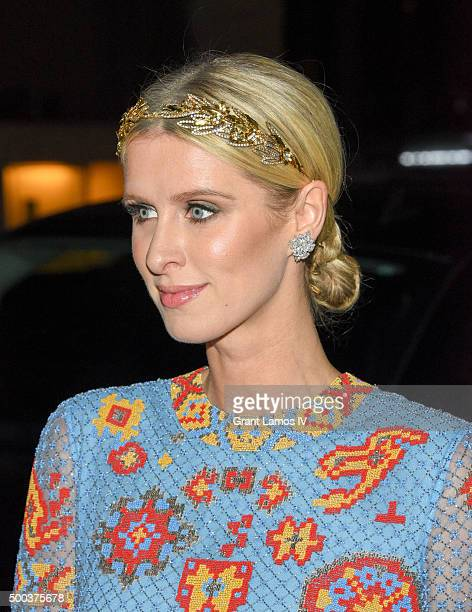 Nicky Hilton attends An Evening Honoring Valentino Lincoln Center Corporate Fund Gala at Alice Tully Hall at Lincoln Center on December 7 2015 in New...