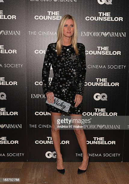 Nicky Hilton attends Emporio Armani With GQ And The Cinema Society Host A Screening Of 'The Counselor' at Crosby Street Hotel on October 9 2013 in...