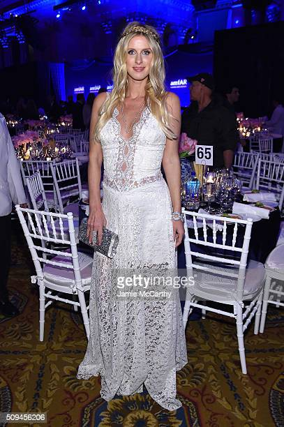 Nicky Hilton attends the 2016 amfAR New York Gala at Cipriani Wall Street on February 10 2016 in New York City