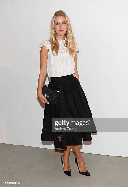 Nicky Hilton attends the Alice Olivia by Stacey Bendet presentation during Spring 2016 New York Fashion Week The Shows at The Gallery Skylight at...