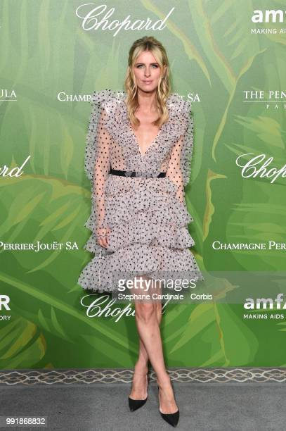 Nicky Hilton attends the amfAR Paris Dinner 2018 at The Peninsula Hotel on July 4 2018 in Paris France