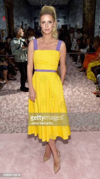 Nicky Hilton attends the Carolina Herrera front row during New York Fashion Week The Shows on September 10 2018 in New York City