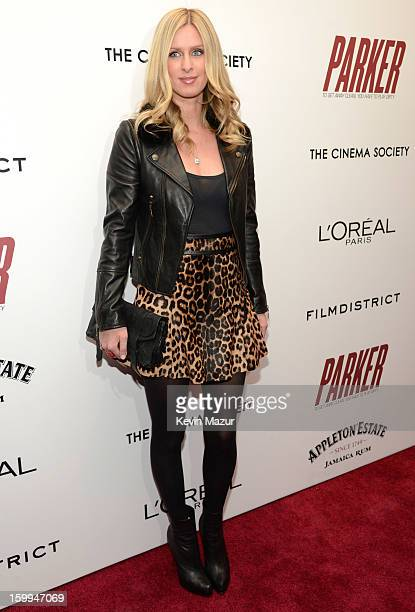 Nicky Hilton attends the FilmDistrict with The Cinema Society L'Oreal Paris Appleton Estate screening of 'Parker' at the Museum of Modern Art on...