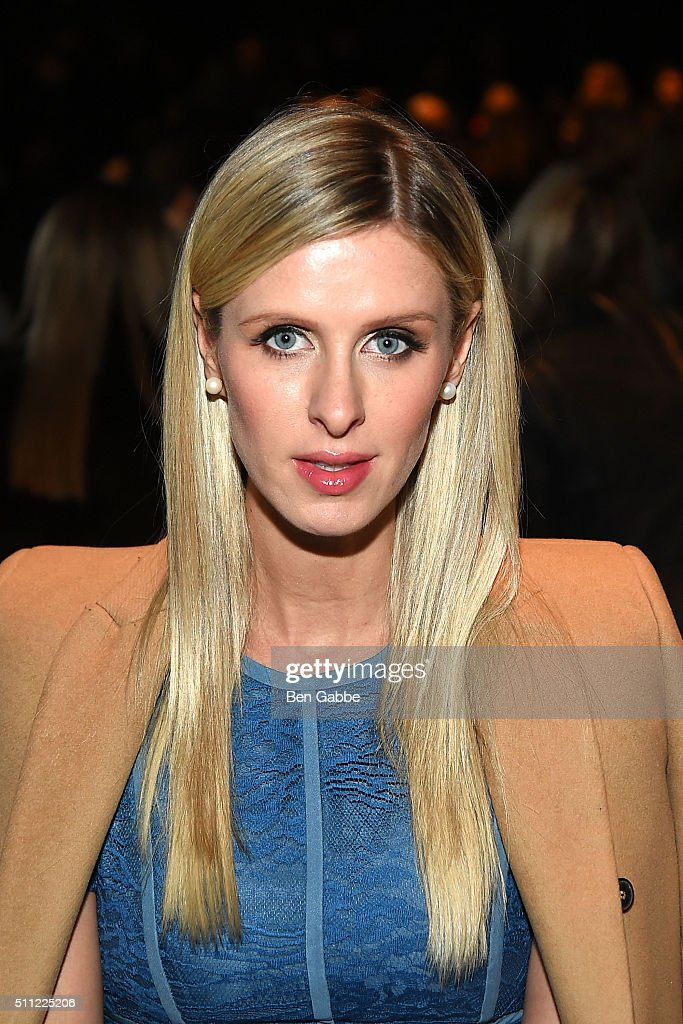 Nicky Hilton attends the J. Mendel fashion show during Fall 2016 New York Fashion Week at Cedar Lake on February 18, 2016 in New York City.