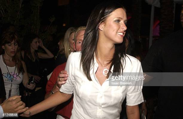 Nicky Hilton attends the launching of her new clothing line Chick at the Palms Hotel Casino on August 30 2004 in Las Vegas