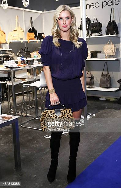 Nicky Hilton attends the Nicky Hilton x Linea Pelle Capsule Collection Launch at Coterie NY at The Javits Center on February 24 2015 in New York City
