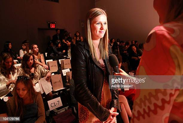 Nicky Hilton attends the Odd Molly Spring 2011 fashion show during Mercedes-Benz Fashion Week at The Studio at Lincoln Center on September 15, 2010...