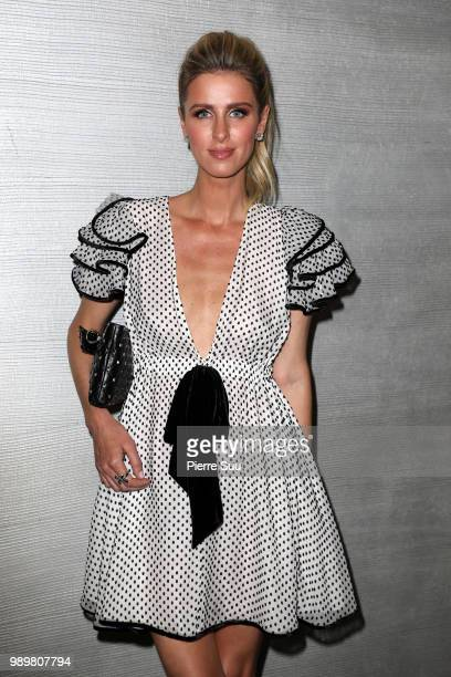 Nicky Hilton attends the Ralph Russo Haute Couture Fall Winter 2018/2019 show as part of Paris Fashion Week on July 2 2018 in Paris France