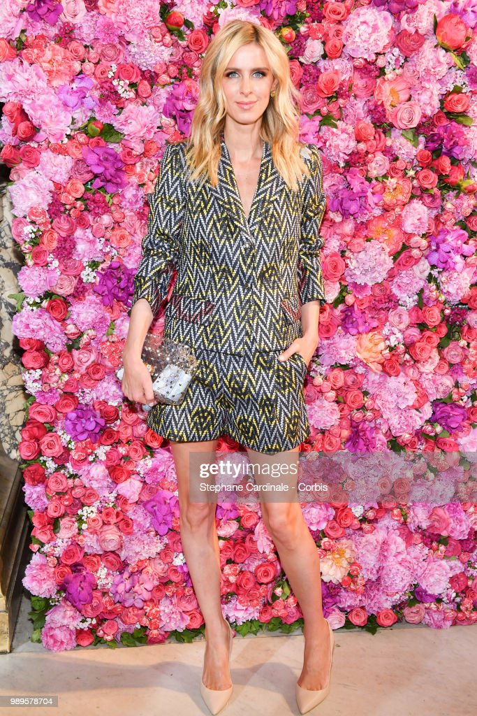 Nicky Hilton attends the Schiaparelli Haute Couture Fall/Winter 2018-2019 show as part of Haute Couture Paris Fashion Week on July 2, 2018 in Paris, France.