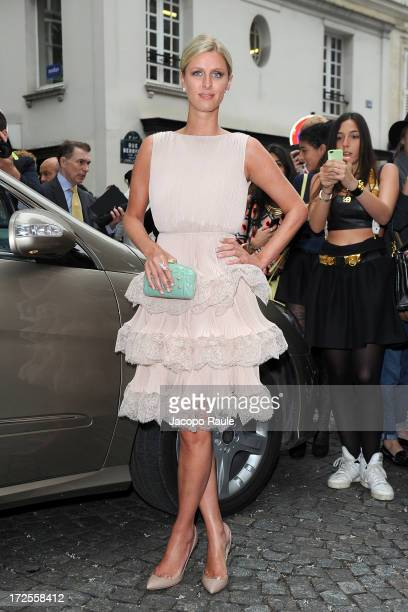 Nicky Hilton attends the Valentino show as part of Paris Fashion Week HauteCouture Fall/Winter 20132014 at Hotel Salomon de Rothschild on July 3 2013...