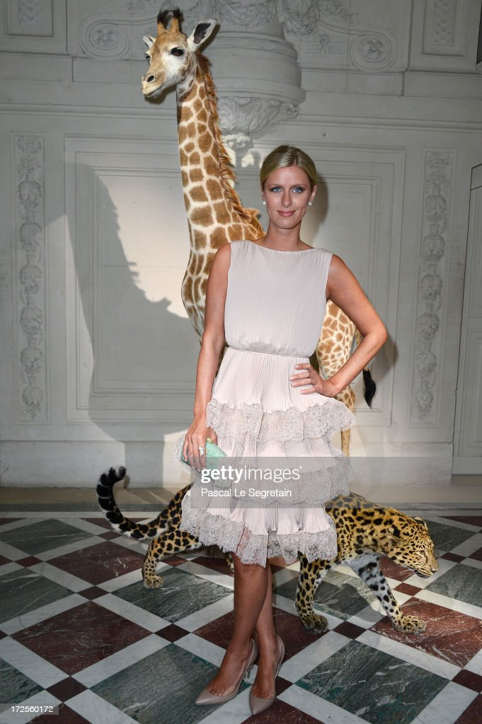 Nicky Hilton attends the Valentino show as part of Paris Fashion Week Haute-Couture Fall/Winter 2013-2014 at Hotel Salomon de Rothschild on July 3, 2013 in Paris, France.