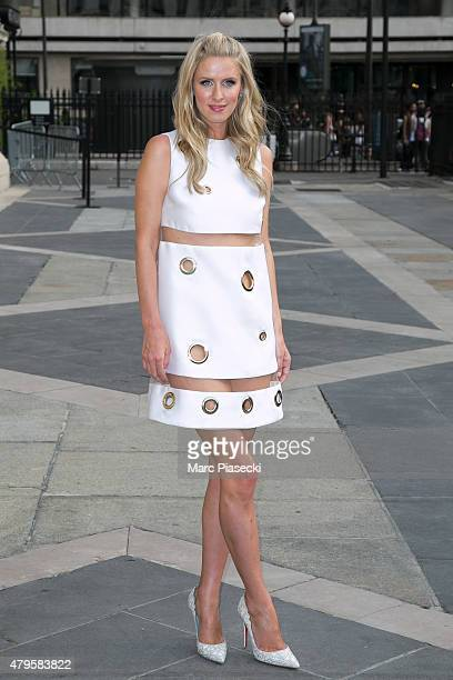 Nicky Hilton attends the Versace show as part of Paris Fashion Week Haute Couture Fall/Winter 2015/2016 on July 5 2015 in Paris France