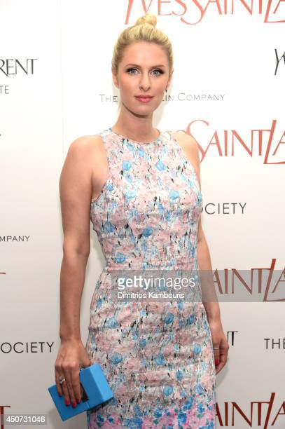 Nicky Hilton attends The Weinstein Company's Yves Saint Laurent premiere hosted by Yves Saint Laurent Couture Palette The Cinema Society at Museum of...