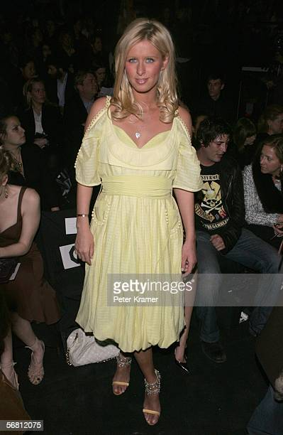 Nicky Hilton attends the Zac Posen Fall 2006 fashion show at the Tent during Olympus Fashion Week in Bryant Park February 9 2006 in New York City