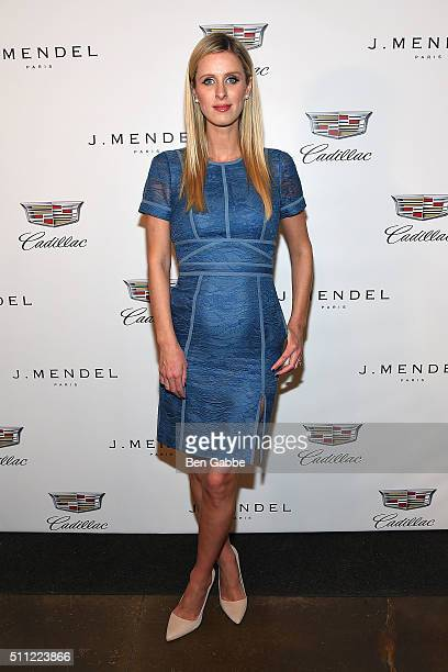 Nicky Hilton backstage at the J Mendel fashion show during Fall 2016 New York Fashion Week at Cedar Lake on February 18 2016 in New York City