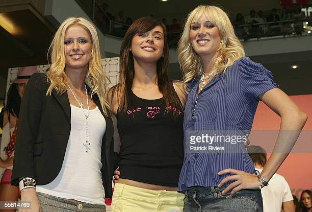 Nicky Hilton Ceren Alkac and Kimberly Stewart attend the Holeproof Antz Pantz IT Girl Competition at Westfield Parramatta on September 28 2005 in...