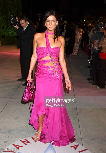 Nicky Hilton during 2005 Vanity Fair Oscar Party Arrivals at Mortons in Los Angeles California United States