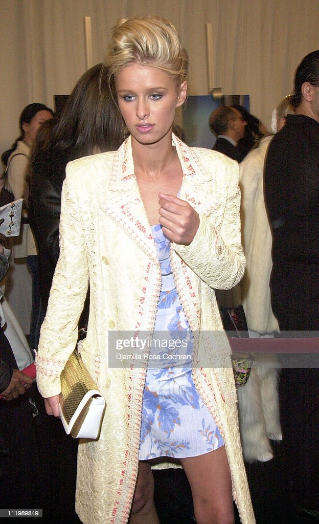 Nicky Hilton during Mercedes Benz Fashion Week Fall 2003 Collections - Luca Luca - Front Row at Bryant Park in New York City, New York, United States.
