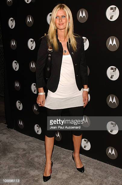 Nicky Hilton during Motorola's Seventh Anniversary Party to Benefit Toys for Tots Arrivals at American Legion Hall in Los Angeles California United...