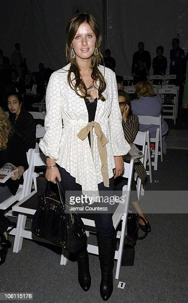 Nicky Hilton during Olympus Fashion Week Spring 2007 - Ports 1961 - Front Row and Backstage at The Atelier, Bryant Park in New York City, New York,...
